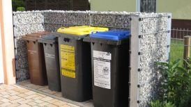 Sichtschutz für Abfallkübel